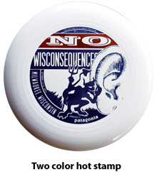 One color hot stamped disc